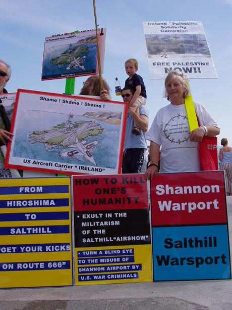 Protest at Salthill Air Show