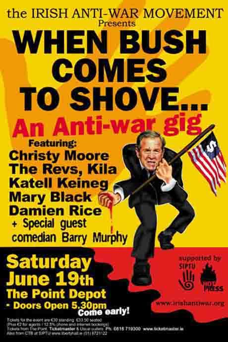 When Bush Comes To Shove Gig.  Very successful gig, with Christy Moor,The Revs,Dimion Rice, Mary Black and Katell Keineg